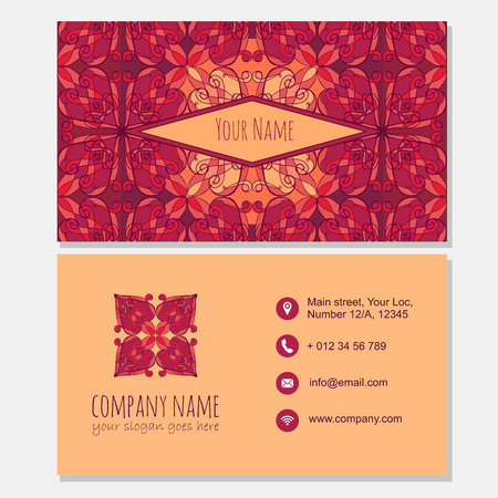 creation of sites: visiting card with Modern icon design.business card template. Best for identity.