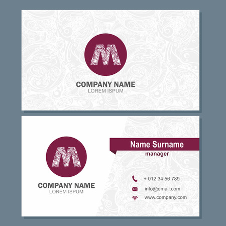 visiting card: Business card or visiting card template with logo element letter a, multicolor vector design editable Illustration