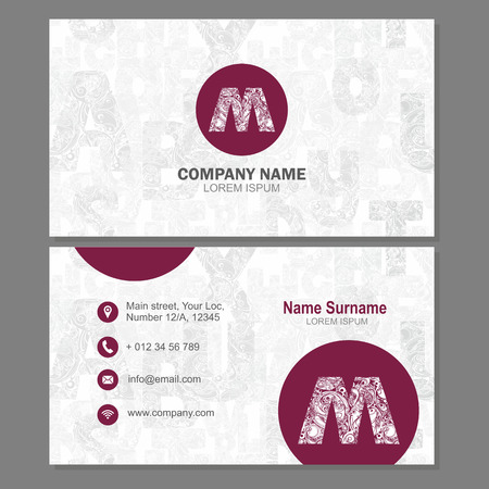 visiting card: Business card or visiting card template with element letter a, multicolor vector design editable