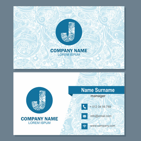 Business card or visiting card template with element letter a, multicolor vector design editable