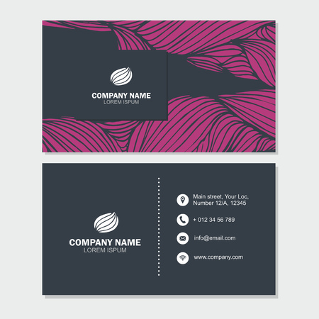 Business Card Or Visiting Card Template With Abstract Logo Element ...