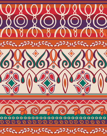 Seamless oriental pattern boho style with Islam, Arabic  Ottoman motifs