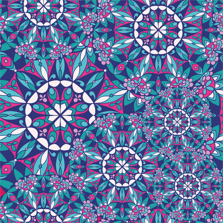 ottoman fabric: Seamless pattern with mandala texture. Hand drawn decorative ornament for printing on fabric or paper. Ottoman motifs Illustration