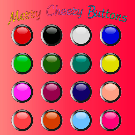 cheery: diferent color merry cheery glossy web buttons Illustration