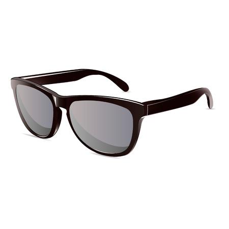 sunglasses: tiempo de verano gafas de sol aislado negro vector unisex Vectores