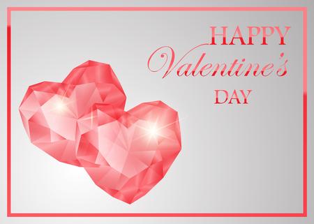 Red ruby heart shape. vector illustration design