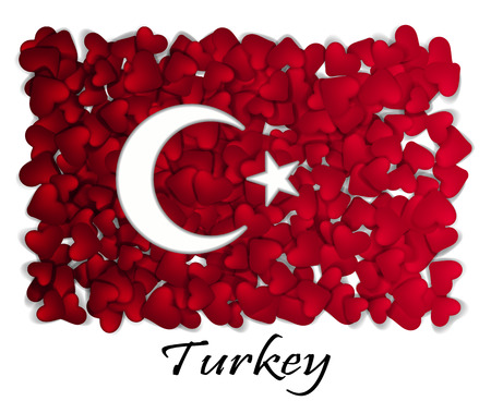 Love Turkey. Flag Heart Glossy. With love from Turkey. Made in Turkey. Turkey national independence day. Sport team flag. Ankara, tourism