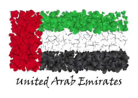 Flag Love United Arab Emirates. Flag Heart Glossy. With love from United Arab Emirates.
