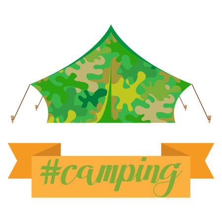 Tourist tent icon. Camping tent house. Vector illustration eps10 Illustration