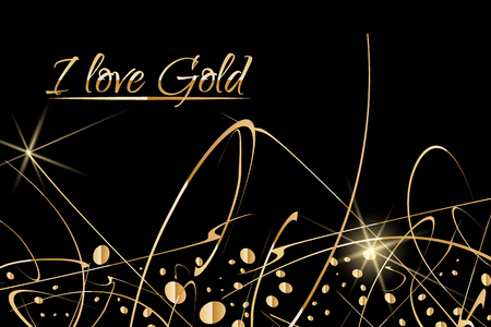 Abstract Vector Background with gold paint drops. Luxury design with place for text. Perfect for poster, flyer, banner, post or greeting card, business card