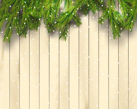 Realistic fir tree border Ilustrace