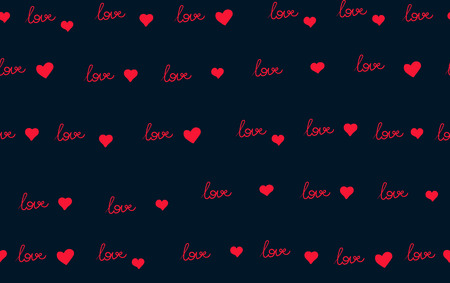 Vector seamless pattern with handwritten Love word. Romantic design, perfect for Valentine s day prints and patterns