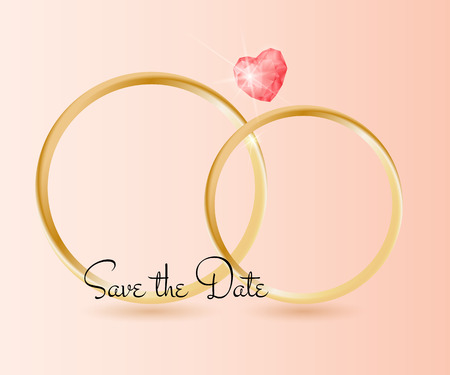 Wedding Background with rings.