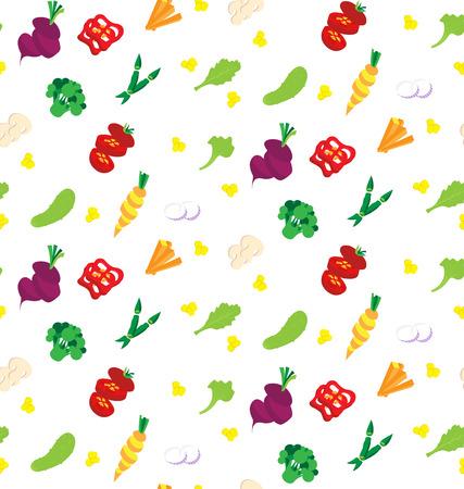 Fruit seamless background. Colorful pattern. Summer wallpaper. vector illustration Illusztráció