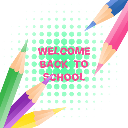 Welcome Back to School event template for every design Illustration