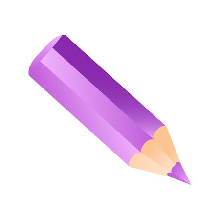 Short small pencil icon. redcolorful pencil vector illustration