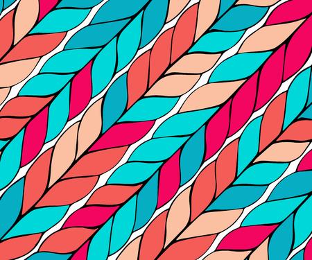 pattern with diagonal braids. Endless stylish texture