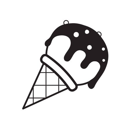 Cone, dessert, icecream icon vector image. Can also be used for sweets and confectionery. Suitable for use on web apps, mobile apps and print media.