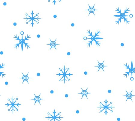 Vector simple unusual seamless pattern with geometric flat snowflakes. Print for wrapping paper texture, posters, winter greeting cards, fashion design textile print texture.