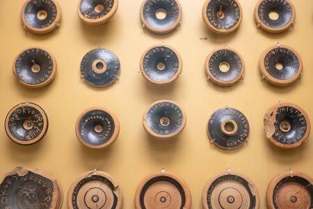 ancient greek black glazed kylix bases
