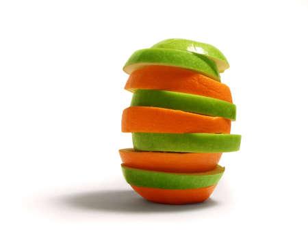 Mix of apple and orange rings Banco de Imagens