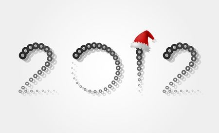 Background for the new 2012 with a hat of Santa Claus Stock Vector - 11658480
