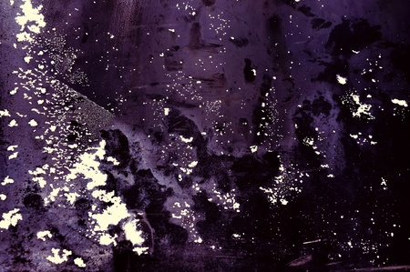 The horizontal soiled abstraction executed in violet tones photo