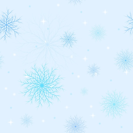 Seamless Pattern from set of snowflakes in blue tones Stock Vector - 11657595