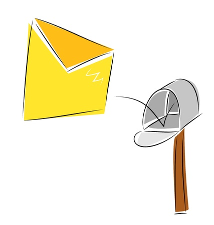The illustration representing that the letter has come Vector