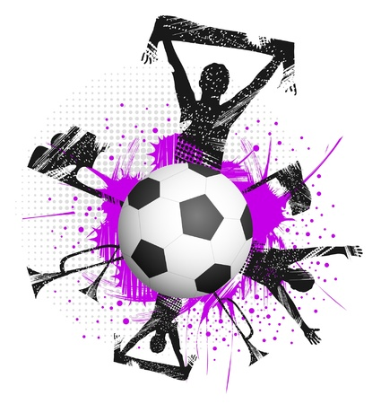 soccer fans: Football with fans and attributes of football