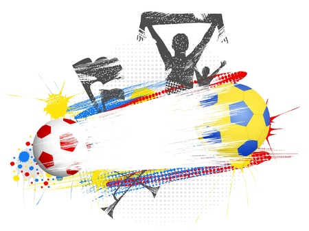 Football poster to euro-2012 in Poland and Ukraine Vector
