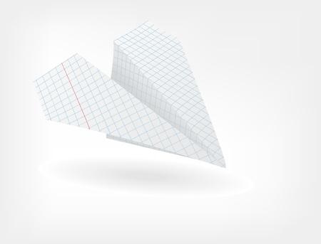 papierflugzeug: Das Papier Flugzeug von einem Blatt Papier in einem K�fig