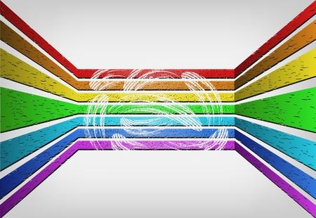 voluminous: Voluminous abstract background in style grunge (rainbow) Illustration