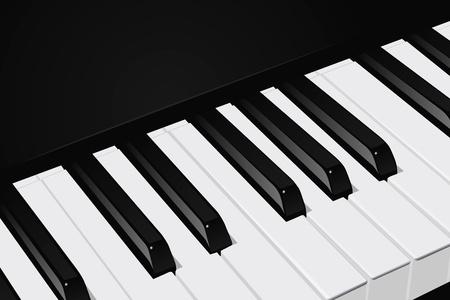 piano closeup: The realistic vector image a piano key Illustration