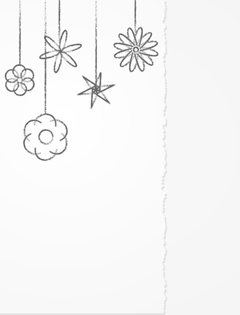 Drawing flowers pencil on paper Stock Vector - 11969527