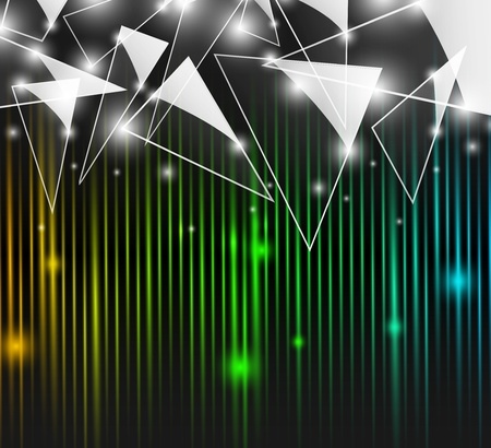 Abstract colorful background with glass triangles  Vector