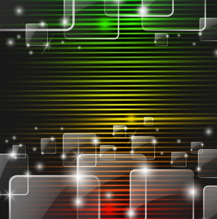 Abstract colorful background with glass squares Illustration