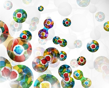 microbes: Background with an abstract image of the cell division