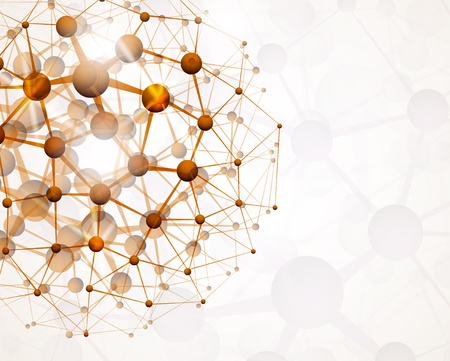 Resumen de antecedentes de la estructura molecular Ilustración de vector