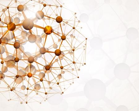 Streszczenie tle struktury molekularnej Ilustracje wektorowe