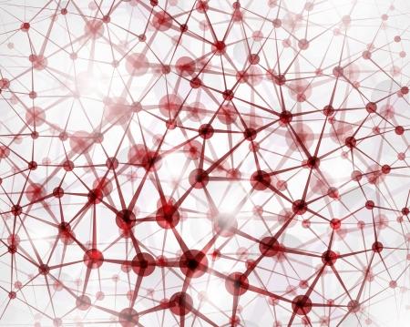 Achtergrond van de molecuulstructuur Stock Illustratie