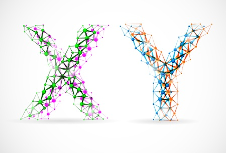 An abstract image of x and y chromosomes