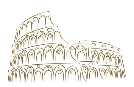 colosseo: Sketch del Colosseo pennello d'oro