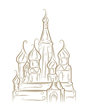moscow churches: Sketch of the Saint Basil