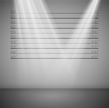 lineup: Criminal background with lines and rays of light