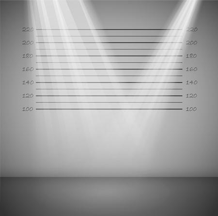 investigacion: Antecedentes penales, con las l�neas y los rayos de luz