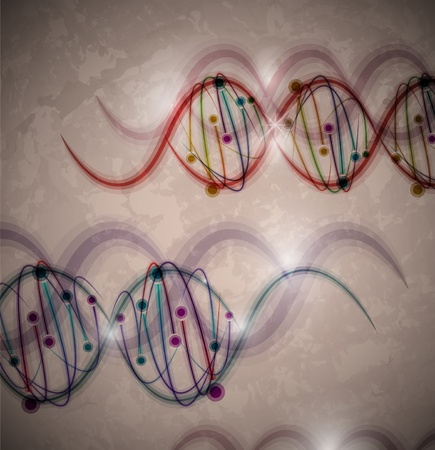Abstract background with image of a DNA molecule  Eps 10 Vector