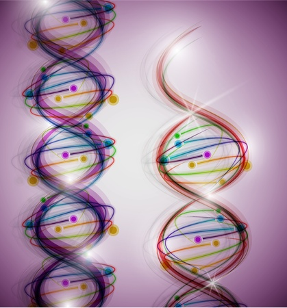 Abstract background with a colorful picture of the DNA molecule  Eps 10 Vector