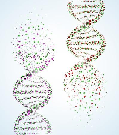 Beeld van een DNA molecule, die de vernietiging Eps 10 Vector Illustratie