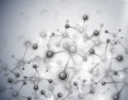 Abstract background of the molecular structure Illustration